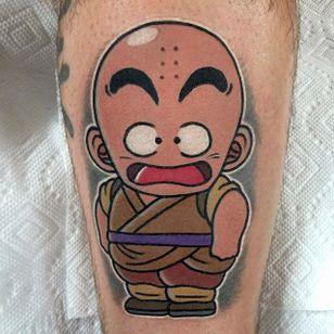 Krillin tattoo by Adam Perjatel. #AdamPerjatel #anime #dragonball #dbz #dragonballz