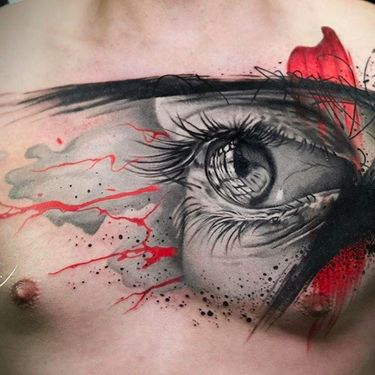Black and Grey with Pops of Red Tattoos by Michael Cloutier