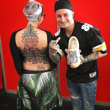 Colorful Dotwork Tattoos by Alex Santucci