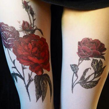 Tatul Hand-Painted Tattoo Tights