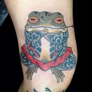 Toad Tattoo by Moroko Gon #toad #japanesetoad #japanese #japaneseartist #traditionaljapanese #asian #oriental #MorokoGon