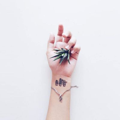 Cute and Small Cactus Tattoos