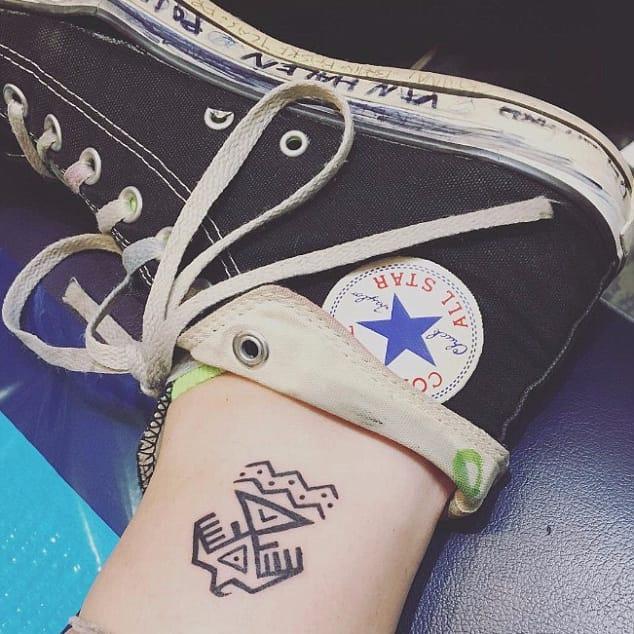 Paris Jackson's Standing Rock tattoo. #ParisJackson #StandingRock