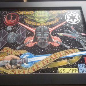 Some of Adam Guy Hays' awesome Star Wars tattoo art (IG—adamguyhays). #AdamGuyHays #NYC #RedRocketTattoo #RogueOne #StarWars #StarWarsDay