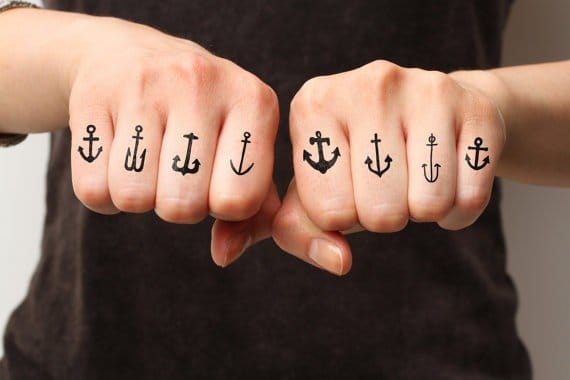 Clearly this person just loves the old school anchor so much they had to get them all!