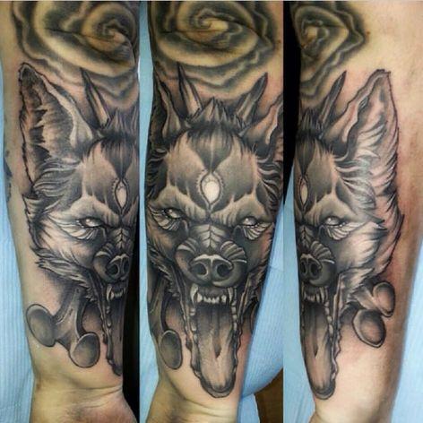 Awesome wolf tattoo