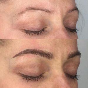 Micro-blading by Claire Vuillemot (via IG-clairevuillemot) #microblading #cosmetictattoo #faq #clairevuillemot #eyebrows