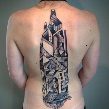Peter Aurisch's Picasso-esque Body Art
