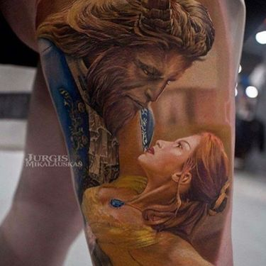 'Beauty and The Beast' Tattoos that Make Us Want to Sing