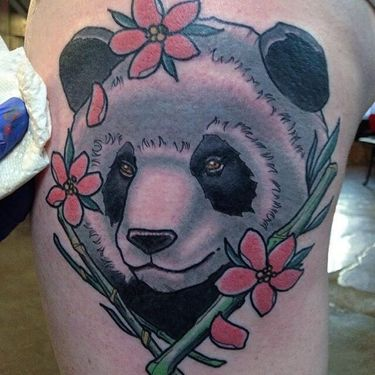 What's Black And White And Really Sweet? Panda Bear Tattoos