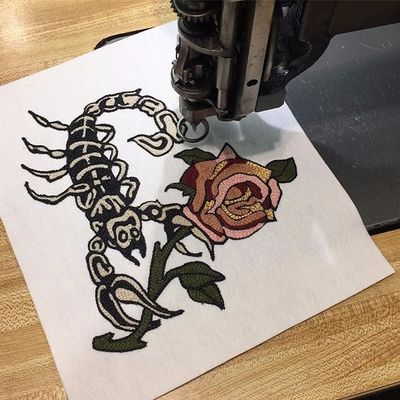 Old English Rose is Not Your Grandmother's Embroidery