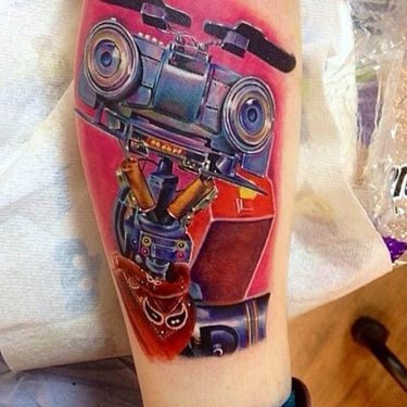 Keeping The 1980s Alive With Short Circuit Tattoos