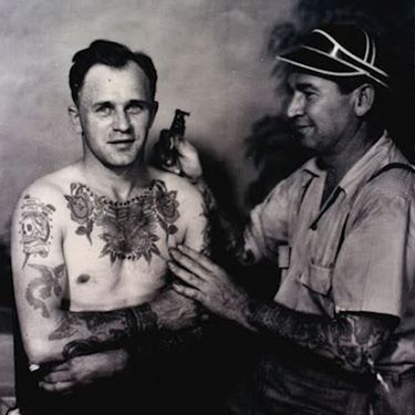 Bert Grimm's Legacy Seen in Tattoos of Grinning Suns and Crying Hearts
