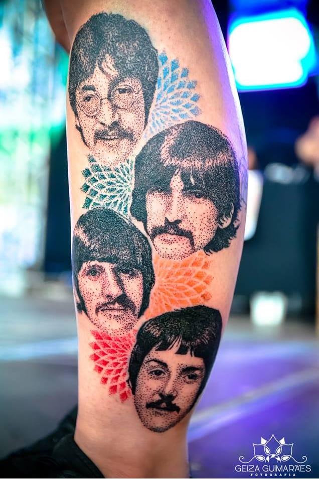 Os Beatles #DiegoCurcio #brazilianartist #tatuadoresdobrasil #brasil #brazil #pontilhismo #thebeatles #beatles #banda #band #rock #musica #music #PaulMcCartney #ringostar #georgeharrison #johnlennon #dotwork