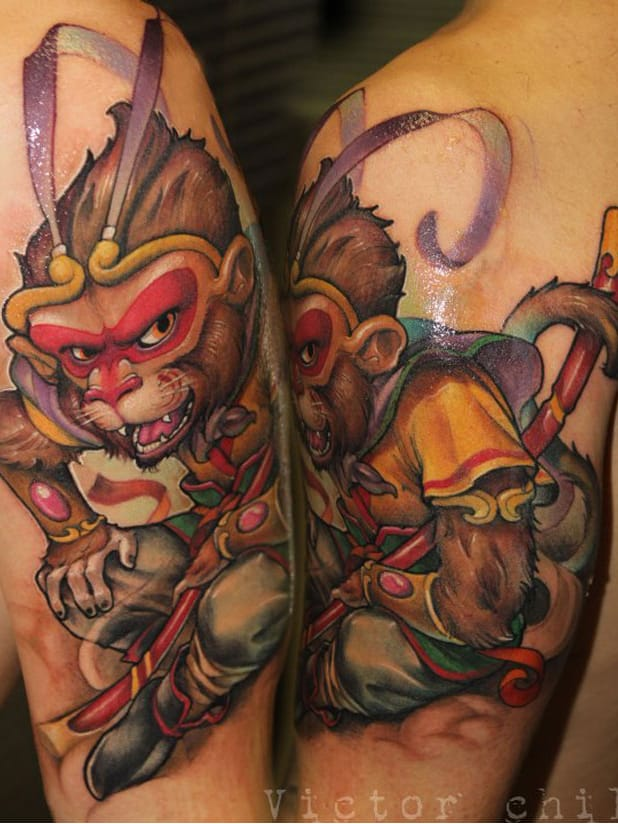 Macaco guerreiro #VictorChill #macacotattoo #monkeytattoo #macaco #monkey #guerreiro #warrior #espada #sword