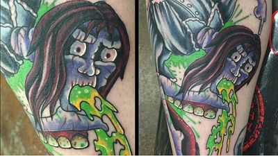 If You're Gonna Spew, Spew Along With These Rad Vomiting Tattoos