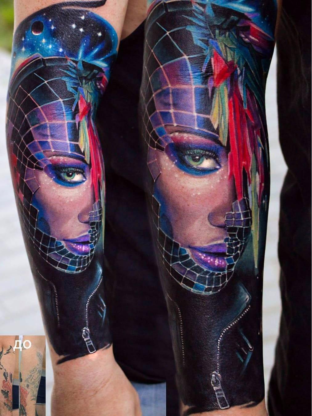 Cover up #VasilySuvorov #gringo #realismo #realism #realismocolorido #mulher #woman #girl #garota #galaxy #galaxya #universo #universe #cosmic #cosmica