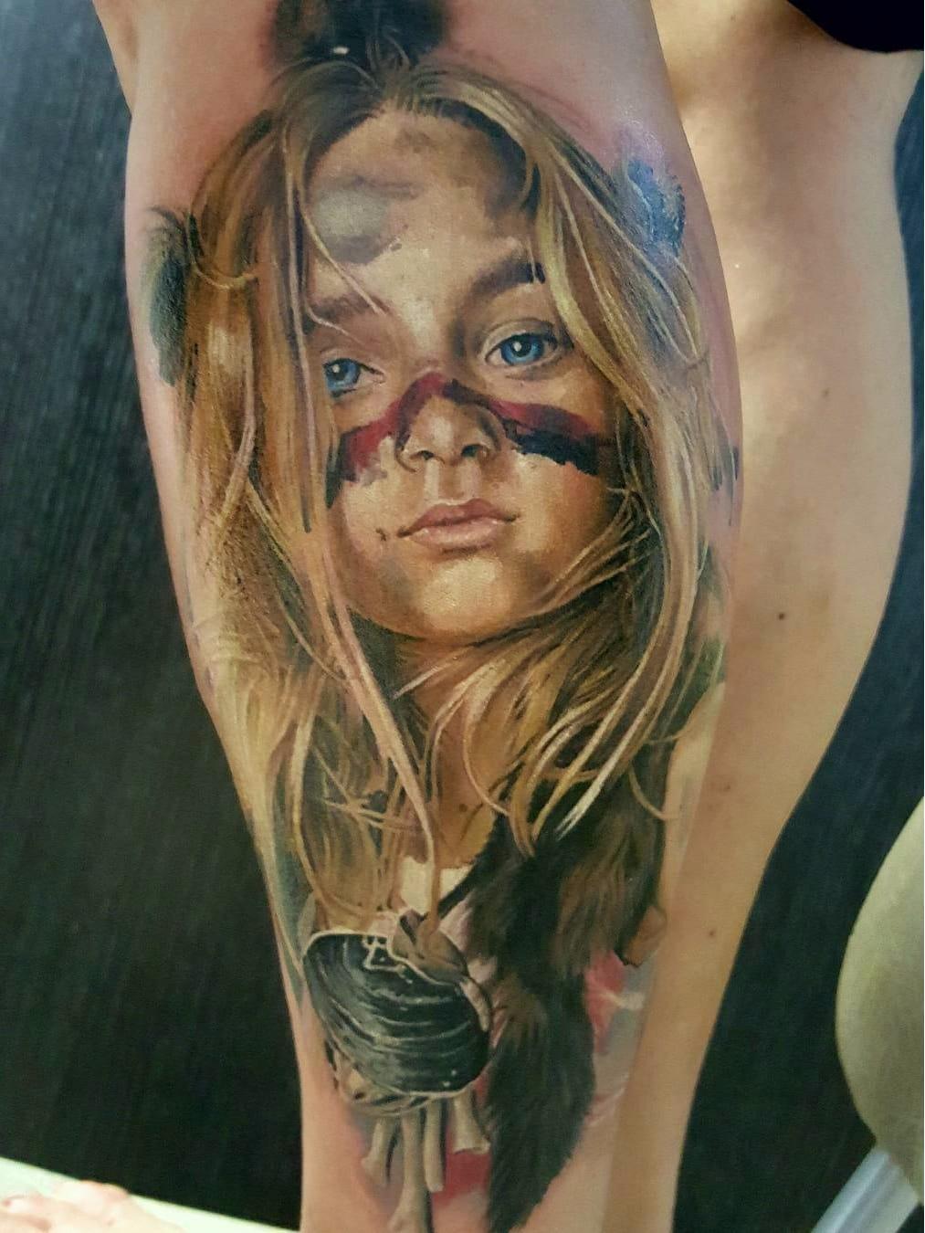 Lindinha #VasilySuvorov #gringo #realismo #realism #realismocolorido #child #kid #criança #girl #menina #garota #portrait #retrato #native #nativa