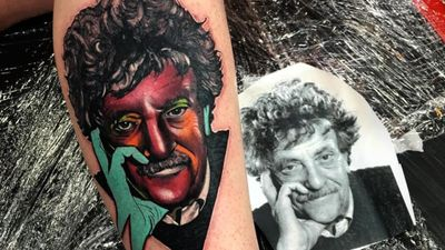 Kurt Vonnegut Tattoos Since We Are Here on Earth to Fart Around