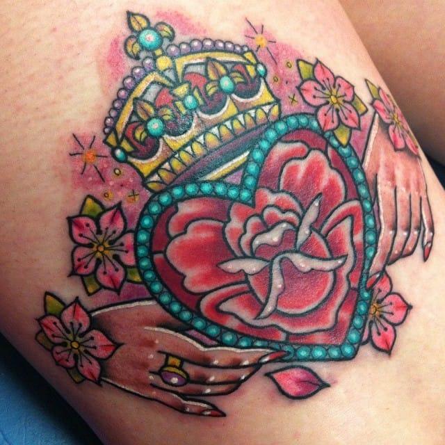 Precious little tattoo by Sarah K.