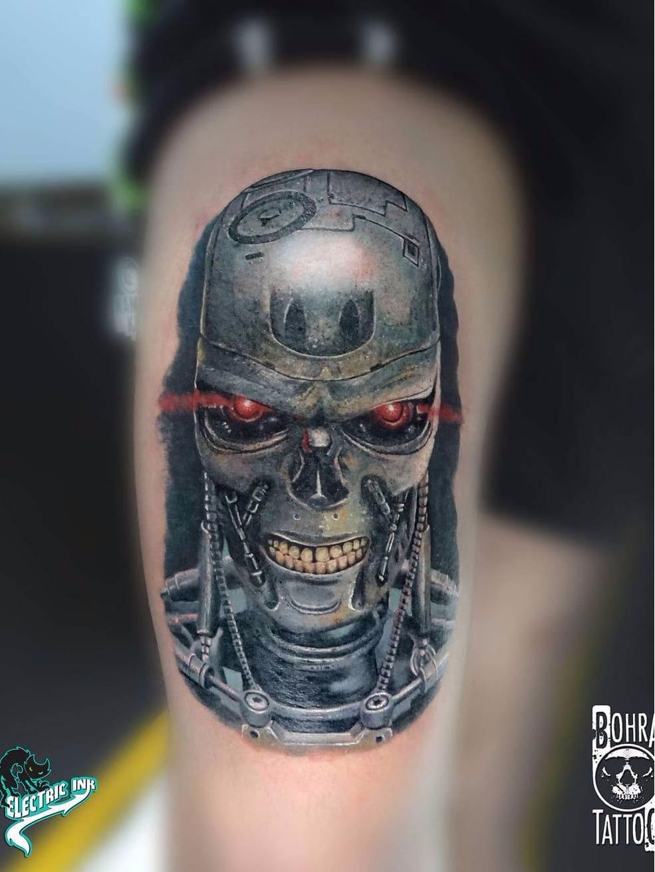 T800, Exterminador do Futuro #JandersonBolzan #Bohra #brasil #brazil #brazilianartist #tatuadoresdobrasil #realismo #realism #t800 #exterminadordofuturo #terminator #movie #filme #nerd #geek #robo #robot