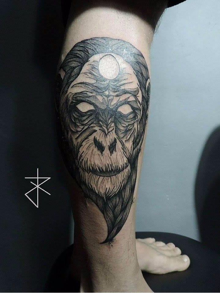 #JoaoCarvalho #JoaoRabiscado #brasil #brazil #brazilianartist #tatuadoresdobrasil #blackwork #macaco #monkey #chimpanzee #chimpanze