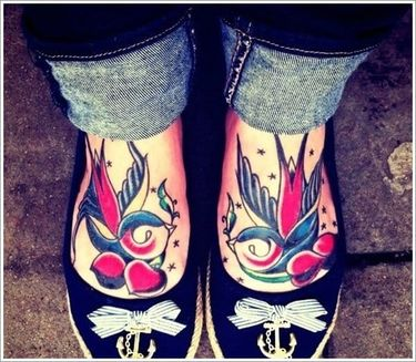 15 Accomplished Swallow Tattoos
