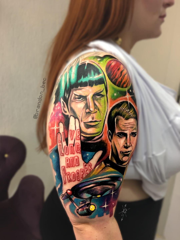 #BrandonBec #brasil #brazil #brazilianartist #colorido #colorful #startrek #movie #filme #nerd #geek #Spock #jameskirk #Enterprise #galaxy #galaxia #naveespacial #spaceship #planet #planeta #comics