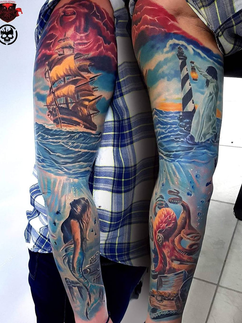 #MarekHaras #gringo #realismo #realism #realismocolorido #colorido #colorful #sereia #mermaid #polvo #octopus #mar #ocean #sea #navio #ship #farol #lighthouse #woman #mulher