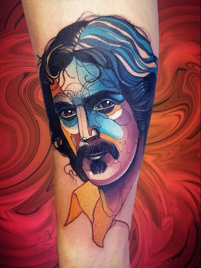 #NiktheRookie #gringo #neotraditional #neotrad #colorido #colorful #frankzappa #homem #man #musica #music #musica