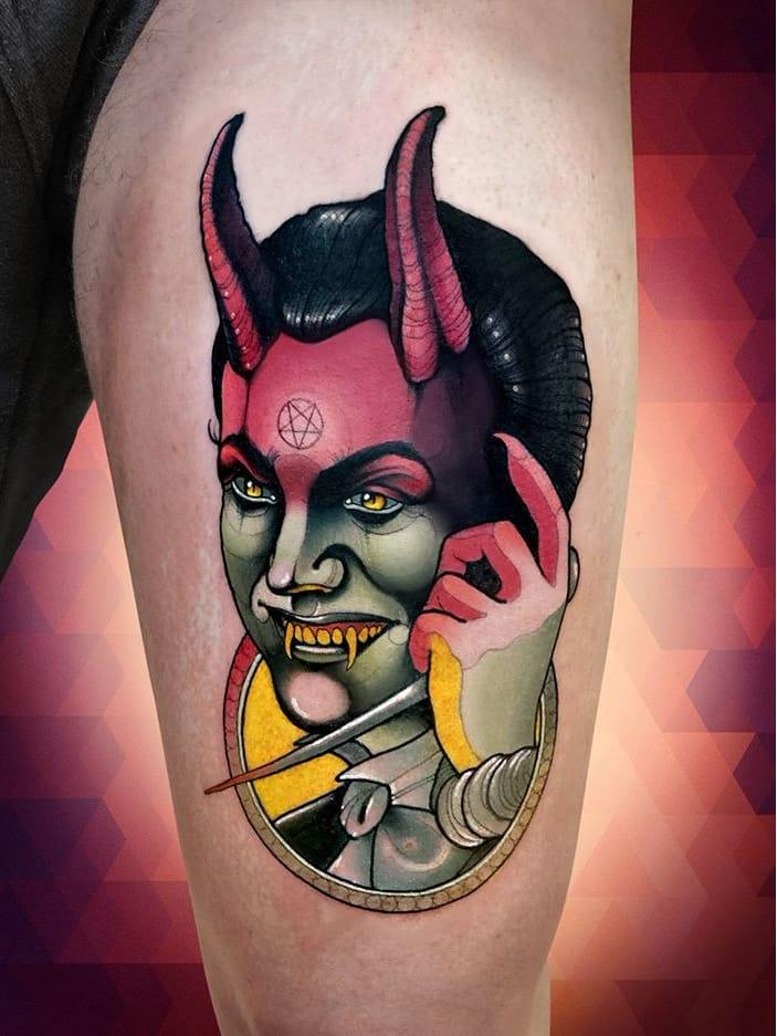 #NiktheRookie #gringo #neotraditional #neotrad #colorido #colorful #homem #man #devil #demonio #evil #mal