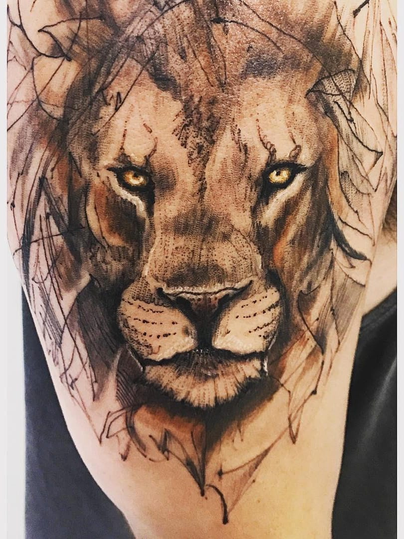 #ChiquinhoGomes #brasil #brazil #brazilianartist #tatuadoresdobrasil #delicate #delicada #leao #lion #pontilhismo #dotwork #abstract #abstrato