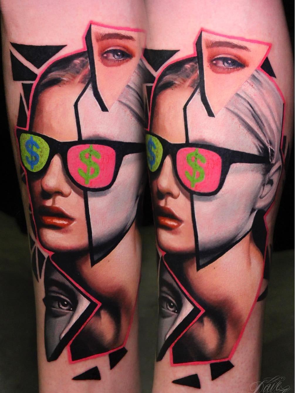 #DavePaulo #gringo #realismo #realism #colorido #colorful #portrait #retrato #colagem #collage #woman #mulher #pretoebranco #blackandwhite #oculos #glasses