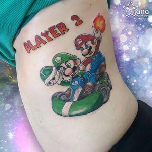 #AnaBoueri #tatuadorasdobrasil #nerd #geek #pop #anime #supermario #luigi #mariokart #nintendo #games #gamer