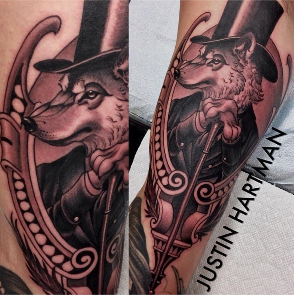 Wolf gentleman tattoo