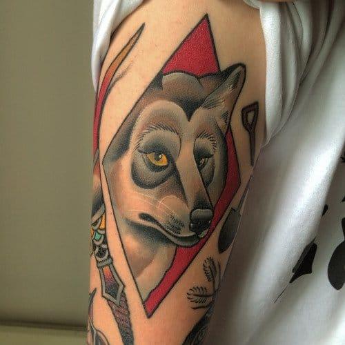 Wolf tattoo by Thomson Tattoos #thomsontattoo #wolf #wolftattoos