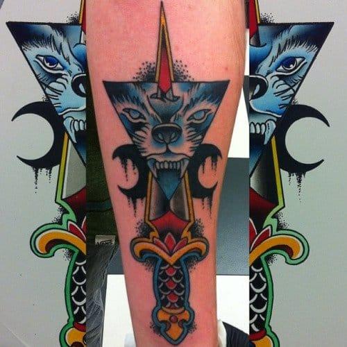 Wolf tattoo by William Jackman #wolf #wolftattoo