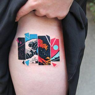Tattoo by Sangjin aka polyc sj #Sangjin #polycsj #RobinEggStudio #Seoul #Korea #TattooedTravels