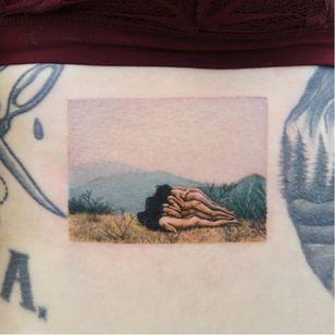 My tattoo! Zhang Huan by Youyeon #YouYeon #ZhangHuan #StudiobySol #Seoul #Korea #TattooedTravels