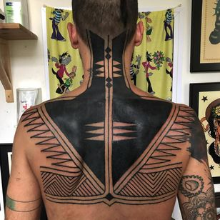 Tribal tattoo by Haivarasly #Haivarasly #tribaltattoos #tribaltattooing #tribal #ancient #blackwork #pattern #linework #dotwork #shapes #abstract
