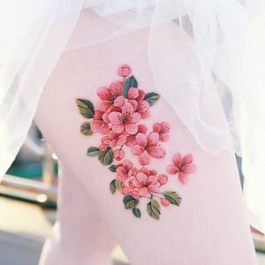 Cherry blossoms by SION (@tattooistsion)  #flowertattoo #floraltattoo #Korea #KoreanArtist #tattooistsion #colortattoo #flower #flowers #oriental #cherryblossomtattoo