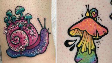 Terrestrial Pulmonate Gastropod Mollusk Ink...aka Snail Tattoos
