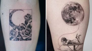 Over the Moon for These Moon Tattoos!