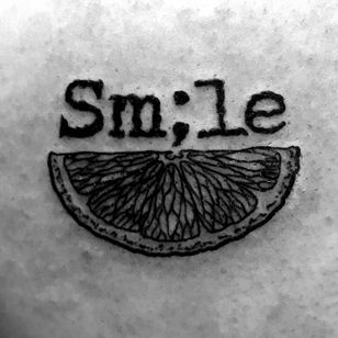 #Semicolon This is a deep tattoo for me. Smile even when you feel like you cant. #WhenLifeGivesYouLemons