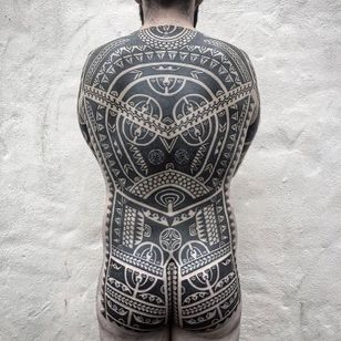 Tribal tattoo by Neil Bass #NeilBass #neotribaltattoo #tribaltattoo #tribal #blackwork #illustrative #pattern #shapes
