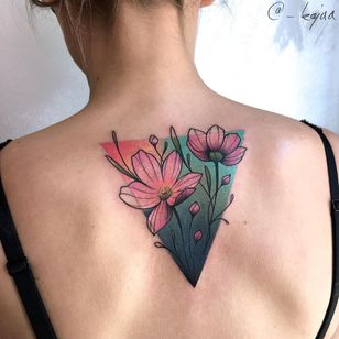 Birth month flower tattoo by Kaja Karolina #KajaKarolina #Cosmos #Cosmosflower #birthmonthflowertattoos #birthmonthflowers #flowertattoo #flowers #florals #petals #blooms #leaves #nature #plant #birthmonth