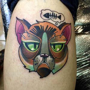 Grumpy Cat tattoo by kisscsabitattoo #kisscsabitattoo  #TardarSauce #GrumpyCat #cat #kitty #petportrait #GrumpyCattattoos #GrumpyCattattoo #cattattoo #meme #petportraittattoo #funnytattoo