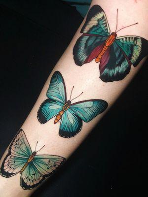 Butterfly tattoo by Jen Tonix #JenTonic #butterfly #forearm - Top 10 Cities to Get Tattooed In #Berlin #tattooidea #tattoo #tattooart #vacation #travel #top10 #top10cities #gettattooed