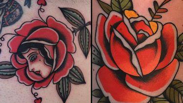Big, Bold, and Beautiful: Traditional Rose Tattoos