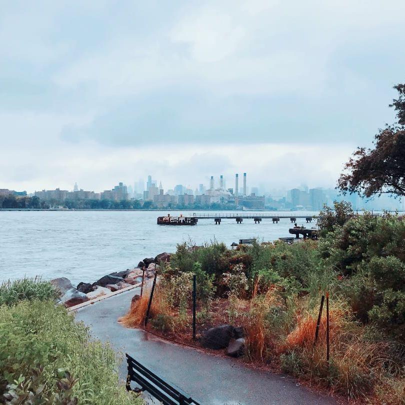 View from Domino Park in Brooklyn to Manhattan - photo by Justine Morrow #NewYork #Brooklyn #tattooedtravels #tattooideas #tattooshop #tattoostudio #travel #tattoos